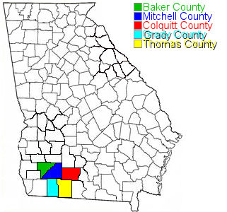Map Of Southwest Georgia.Map Of Southwest Georgia Counties